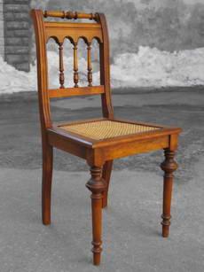 Стул 19-го века с плетеным сиденьем